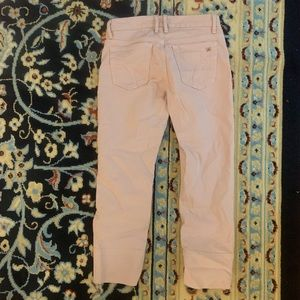 Joes ankle cropped jeans pink color 25